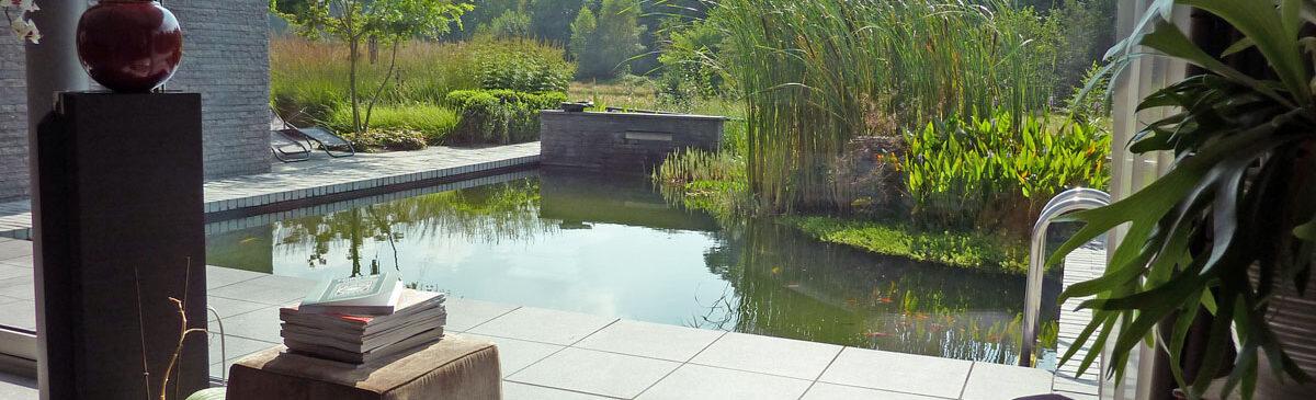 Villatuin met zwemvijver 10