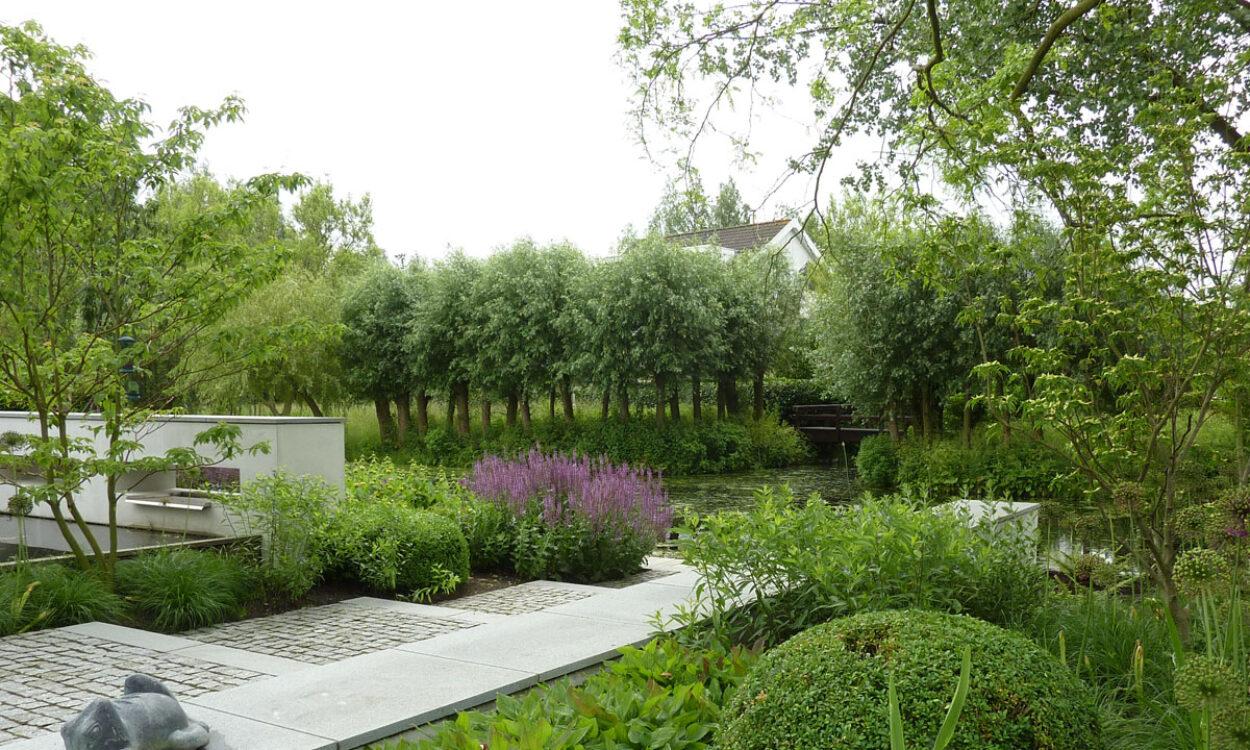 Tuin bij moderne villa 2