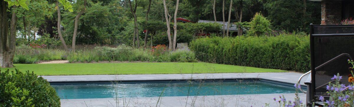 Living-pool munter tuinprojecten zeeland met bostuin